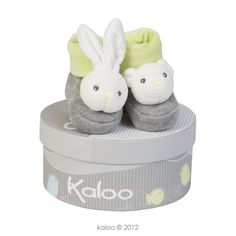 Kaloo New Zen Booties, presented in the unique Kaloo keepsake box.