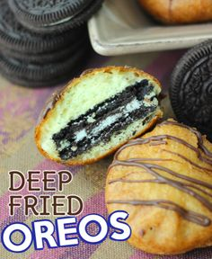 If you have ever wondered how to make deep fried Oreos, this post is for you!  From the pictures to the instructions we will having you wanting fried oreos! #fried #cookies #oreos