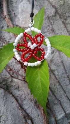 Spreesy is Joining the CommentSold Family! Selling On Pinterest, Red Accents, Galvanized Steel, Flower Pendant, Red Flowers, Seed Beads, Larger, Red And White, Crochet Earrings