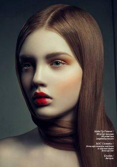 Magazine: Schön! Title: Little Red Photographer: Ron Goldstein Models: Sarah Baumann (@ M4 Models) Make up: Stefi Bazavan Hair: Yankee Tsang