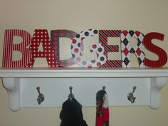 Wisconsin Badger Decorative Letters. $35.00, via Etsy.