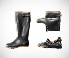 Foldable Japanese Rubber Boots on http://www.gearculture.com