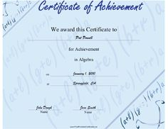 This Free Printable Certificate Of Achievement For Second Grade