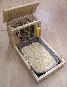 Rabbit Hay Feeder and Tray plus Accessories by KraftyCreature