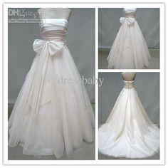 Wholesale A-Line Wedding Dresses - Buy 2012HOT! NewstyleSimpleBow Satin&organza WatteauStrapless WatteauWedding/Evenng/BridesmaidDress/Gown, $127.27   DHgate