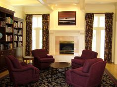 decorating a living room with burgundy accents - Google Search