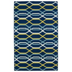 The Kaleen Glam Links Rug is handcrafted using an innovative technique for making flat weave rugs. This durable, reversible wool rug features a splendid geometric design in vibrant colors that will make a stylish statement in any floor space in your home. Kaleen Rugs, Navy Rug, Striped Rug, Navy Stripes, Woven Rug, Carpet Runner, Colorful Rugs, Rug Size, Size 2