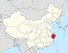 Map showing the location of Zhejiang Province