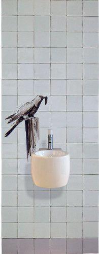 Fonteintje met vogel - Albarello