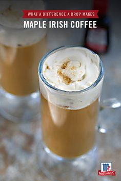 Say hello to your new holiday season pick-me-up. McCormick Maple Extract pairs perfectly with smooth expresso and Irish whiskey to make this Maple Irish Coffee reicpe. Your holiday party guests will absolutely love this seasonal spin on a classic cocktail.
