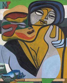 Le Corbusier, Les deux soeurs, 1938 (Oil on Canvas, 39.5 × 32 in.)