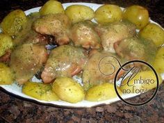 Sobrecoxas de frango com batata & molho de laranja, Receita Petitchef
