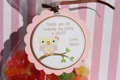 Girl Owl Birthday Party or Baby Shower by ExpressionsPaperie, $5.00