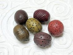 6 ethnic style beads rustic style beads by OrlyFuchsGalchen, $15.00
