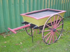 antique flower trolley Victorian edwardian full size push along carriage cart