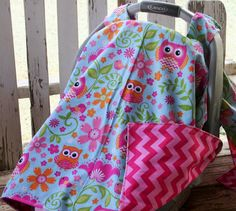 pink owls and light pink and dark pink cotton chevron canopy cover with or without opening Canopy Cover, Pink Owl, Owls, Baby Car Seats, Chevron, Trending Outfits, Unique Jewelry, Handmade Gifts, Dark