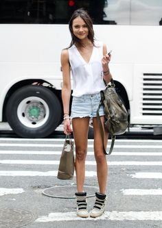 Street Style: Cut Offs and Kicks.
