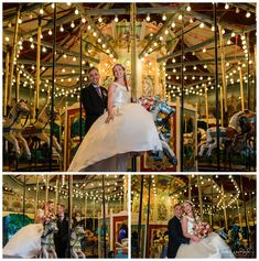 Bride & Groom Wedding Portraits at the iconic Perth Zoo Carousel.  Photography by Trish Woodford Photography