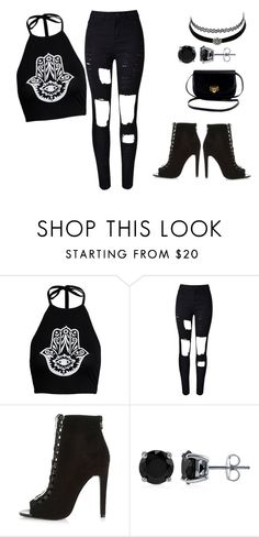 """Blackk"" by http-alienjt ❤ liked on Polyvore featuring Charlotte Russe, River Island and BERRICLE"