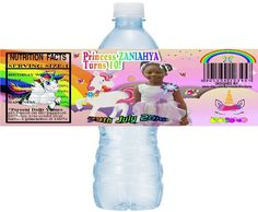 Personalized UNICORN Printable Water Bottle Labels, Printable Unicorn Water Labels, UNICORN, DIY water bottle labels, Digital Unicorn Labels