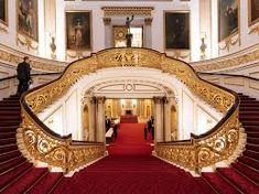 Lifestyle: We went to a fancy tech event at Buckingham Palace — here's how the royals put on a spread Green Rooms, Blue Rooms, Grand Staircase, Staircase Design, Stairs, Buckingham Palace Gardens, Palais De Buckingham, Kate Middleton Wedding, Staircase Remodel