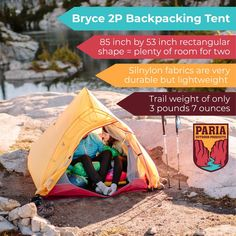 BRYCE 1P AND 2P BACKPACKING TENT Backpacking Tent, Kayak Camping, Camping Hacks, Outdoor Brands, Outdoor Gear, Outdoor Products, Ultralight Tent, Hiking Backpack, Home And Away