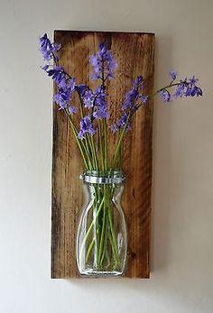 Reclaimed Scaffolding Board Flower Pot / Planter Storage | eBay