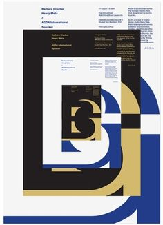 AGDA event posters, Uriah Gray's Portfolio, via graphic design layout, identity systems and great type lock-ups.
