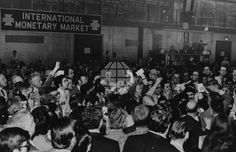 CME International Monetary Market: Trading floor activity on the opening day of the IMM on May 16, 1972.