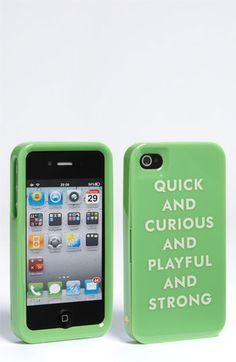 Words we use to describe ourselves.  kate spade new york iPhone case from Nordstrom $40