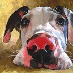 "Daily Paintworks - ""Herbie"" - Original Fine Art for Sale - © Annie Salness Animal Paintings, Animal Drawings, Art Drawings, Illustration Photo, Illustrations, Arte Pop, Dog Portraits, Dog Art, Oeuvre D'art"