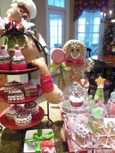 Crazy bout Christmas - I carried the candy theme over into the kitchen.
