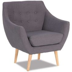 Retro Charcoal Accent Chair