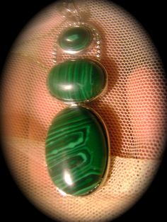 Gorgeous Malachite Large Pendant by Reincarnations, $9.99 USD