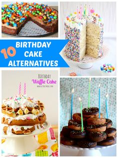 10 Fun Birthday Cake Alternatives Birthday cake alternatives Fun