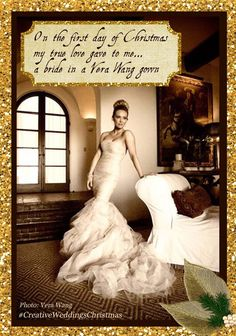 On the first day of #Christmas my true love gave to me...  A bride in a #VeraWang gown!   #CreativeWeddings #CreativeWeddingsChristmas #12DaysOfChristmas #YYCWeddingPlanner #BanffWeddingPlanner