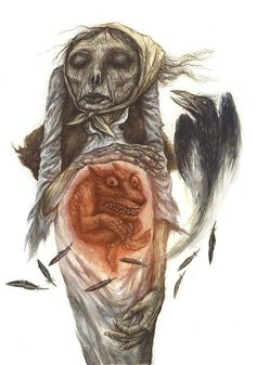 There was a belief that the unborn child of dead pregnant woman can become a werewolf. This happens when an animal passes over the grave of a pregnant women.  - Slavic mythology