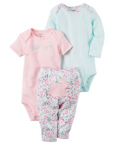 Baby Girl 3-Piece Little Character Set from Carters.com. Shop clothing   c0cb3f0f17