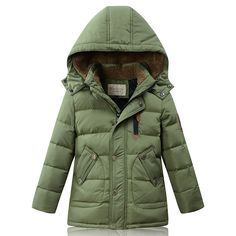 2016 Winter New Boys Down Coat Thermal Middle-Long Cashmere Collar Parkas Kids Cold-proof Overcoat Children 4 Colors 120-170cm