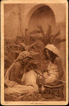 Berber harem, vintage photo, Morocco