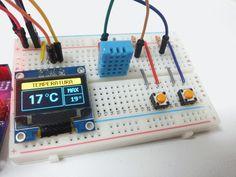 Detalhe circuito Oled e DHT11