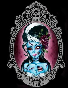 zombie corpse bride, getting this tattoo in august with L.D.F. instead of La Vie