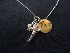 Tinkerbell half marathon necklace by stylishrunner on Etsy