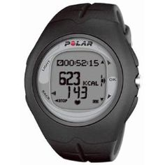 Polar F6 Heart Rate Monitor Black One Size, (cycling, heart monitor watch, heart rate monitor, pedometer, calorie counter, calorie counting watch, calories)