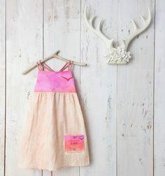 Girls dress - Strappy Pocket Dress with Quote - Birds, Sunset, Feather Design - by bitty bambu by bittybambu on Etsy https://www.etsy.com/listing/288191377/girls-dress-strappy-pocket-dress-with
