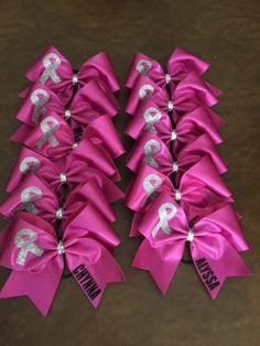 Cheer Bow Breast Cancer Awareness Personalized by FullBidBows