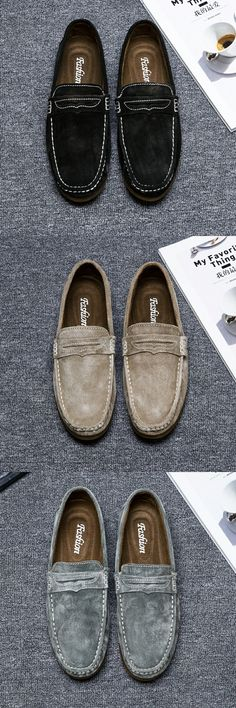 < Click to buy > Prelesty Brand Vintage Autumn Warm Soft Moccasins Men Loafers High Quality Genuine Leather Shoes Men Flats Gommino Driving Shoes