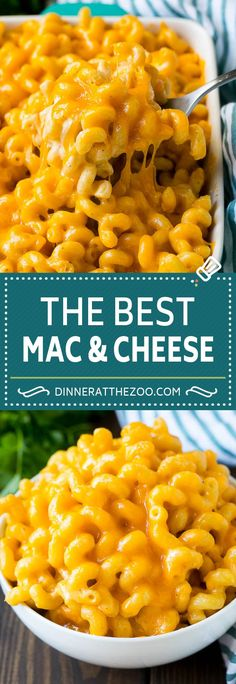 Baked Mac and Cheese - Dinner at the Zoo Mac And Cheese Rezept, Baked Mac And Cheese Recipe, Bake Mac And Cheese, Pasta Cheese, Macaroni And Cheese, Cheese Sauce, Tasty Mac And Cheese, Baked Macaroni, Cheese Dishes