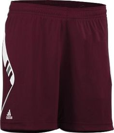 Adidas Women's On Field Soccer Shorts, Maroon, White, large by adidas. $9.98. Gear by adidas
