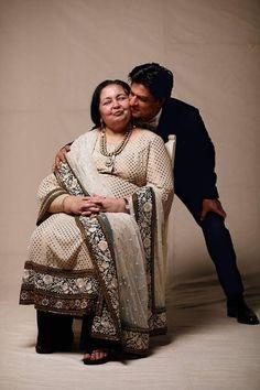 Shah Rukh Khan with *Pam Auntie* (Pamela Chopra, widow of Yashji Chopra)